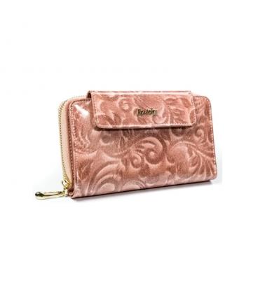 Női rózsaszín pénztárca díszekkel 8808 rózsaszín