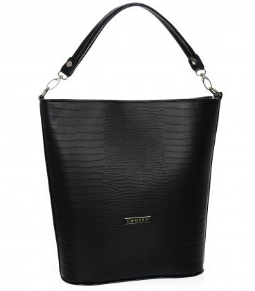 Čierna väčšia kabelka s jemným vzorom V18SM401