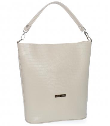 Béžová väčšia kabelka s jemným vzorom V18SM401