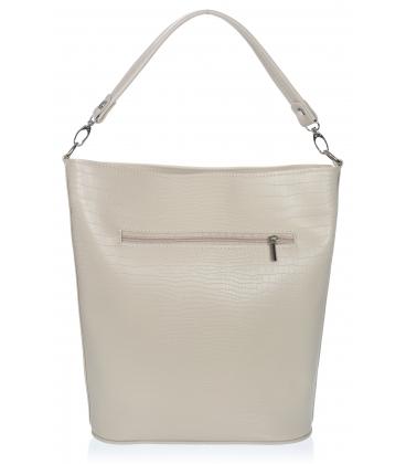 Béžová větší kabelka s jemným vzorem V18SM401