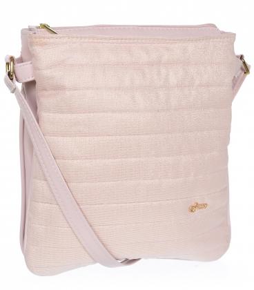Ružová crossbody taška s prešívaním M188puder- Grosso