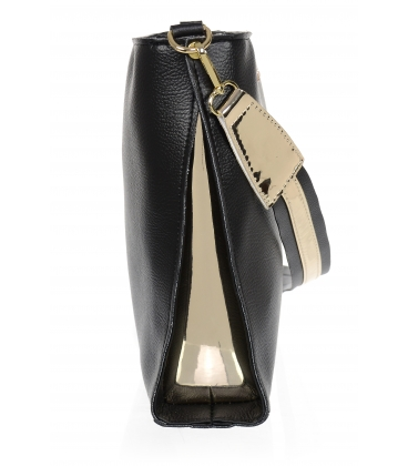 Čierna crossbody kabelka so zlatými detailami 20M006blkgold