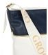 Bielo- modrá crossbody kabelka s popruhom C21SMwhtblue - Grosso
