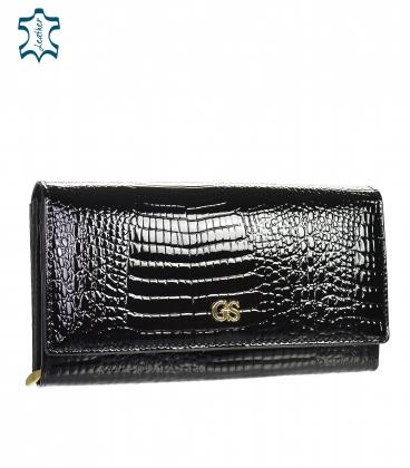 Čierna kožená peňaženka GD20-2-black