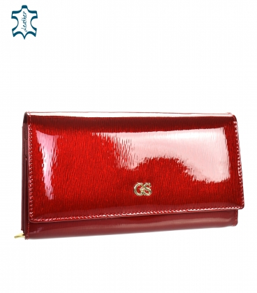 women's red lacquered GROSSO wallet