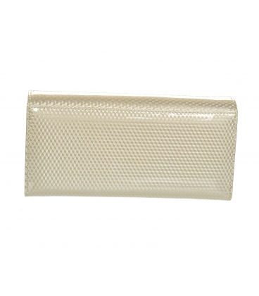 Dámská béžová lakovaná peněženka s jemným vzorem GROSSO
