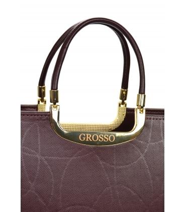 Bordová elegantná vystužená kabelka V21SM002bordo - GROSSO