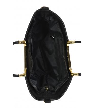 Fekete, elegáns megerősített kézitáska V21SM002black - GROSSO