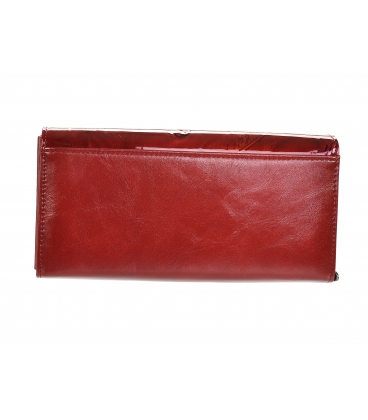 Dámska červená lakovaná peňaženka s motívom listu GROSSO