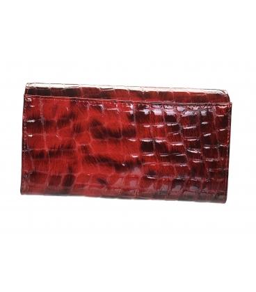 Dámska bordovo čierna lakovaná peňaženka so vzorom GROSSO