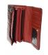 Dámská bordovo černá lakovaná peněženka se vzorem GROSSO
