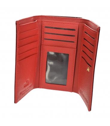 Dámska červená lakovaná peňaženka so pásikovým vzorom GROSSO