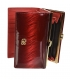 Női piros lakkozott pénztárca csíkos mintával GROSSO