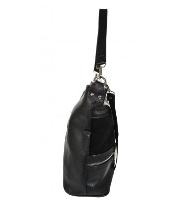 Fekete kézitáska cipzárral és függővel 21V0005fekete GROSSO