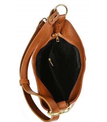 Barna bőr táska rojtokkal GSKM050brown GROSSO