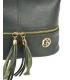 Sötétzöld bőr táska rojtokkal GSKM050green GROSSO