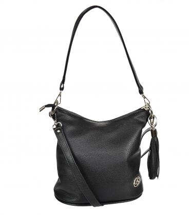 Black crossbody handbag with tassel 20M006blacktassel GROSSO
