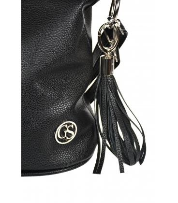 Čierna crossbody kabelka so strapcom 20M006blacktassel GROSSO