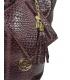 Burgundi fonott bőr vásárlótáska GSKV067bordo GROSSO