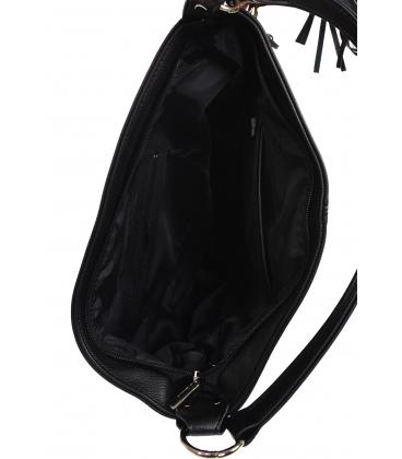 Fekete kézitáska cipzárral és medállal GS21V0004fekete GROSSO