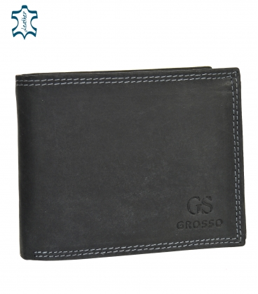 Férfi fekete bőr pénztárca GROSSO ZM-128R-033