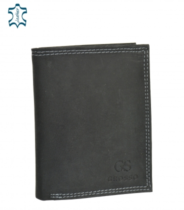 Férfi fekete bőr pénztárca GROSSO ZM-128R-034