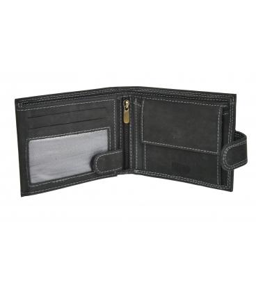Férfi fekete bőr pénztárca GROSSO ZM-128R-032