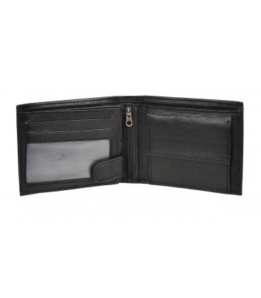 Férfi fekete bőr egyszerű pénztárca GROSSO ZM-77-033