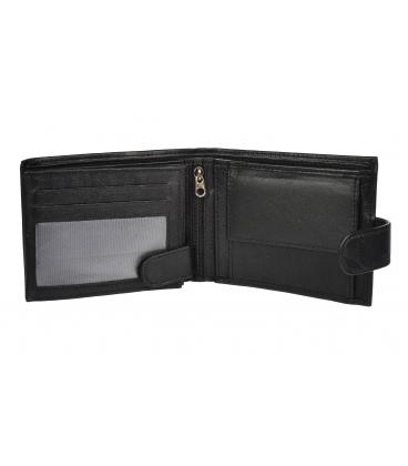 Férfi fekete bőr egyszerű pénztárca GROSSO GM-81B-032