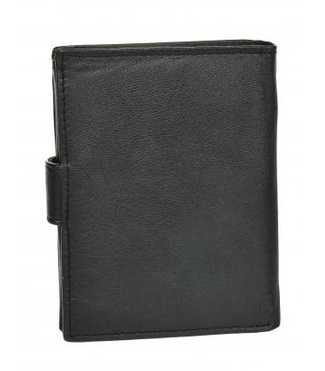 Pánska kožená čierna jednoduchá peňaženka GROSSO ZM-77-123A