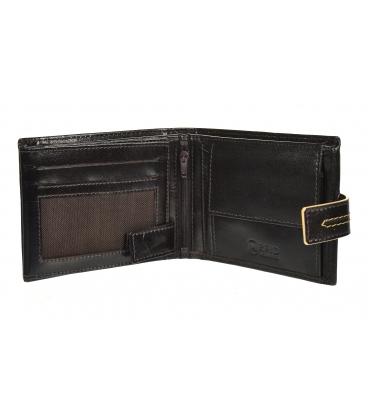 Férfi bőr sötétbarna pénztárca, steppeléssel GROSSO TMS-51R-250Achoco brown