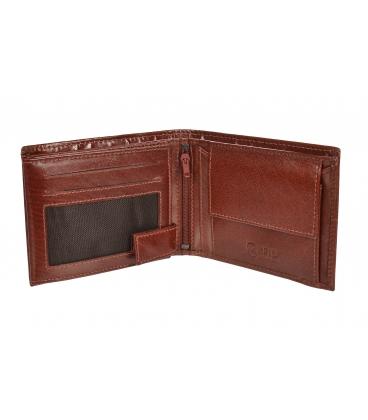 Férfi bőr konyakos pénztárca steppeléssel GROSSO TMS-51R-033cognac