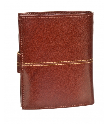 Férfi bőr konyakos pénztárca, steppeléssel GROSSO TM-100R-250A cognac