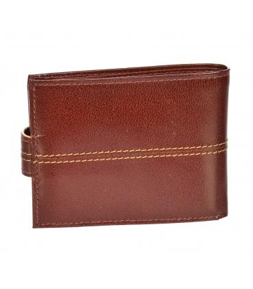 Férfi bőr fekete pénztárca piros csíkkal GROSSO TM-100R-035cognac