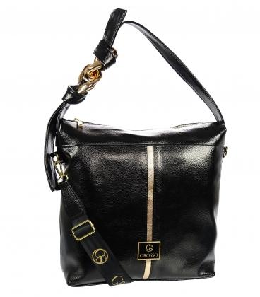 Čierno-zlatá kabelka s ozdobou GS21V0004blackgold Grosso